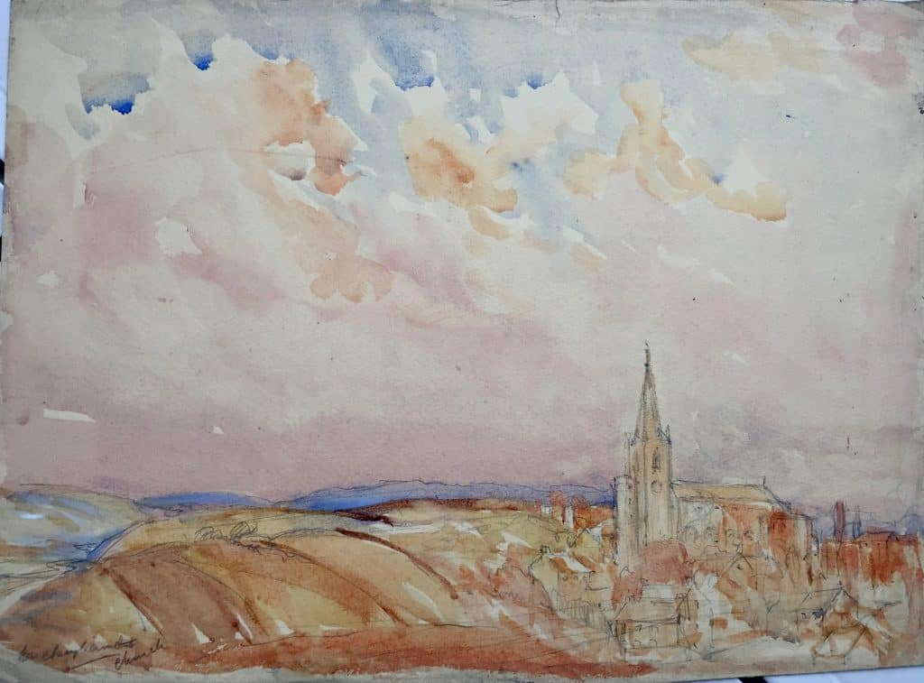 Painting of Buckingham Church