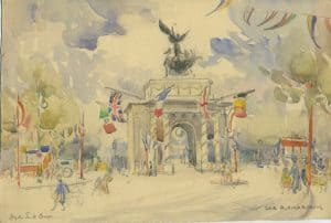 Painting of Hyde Park Corner