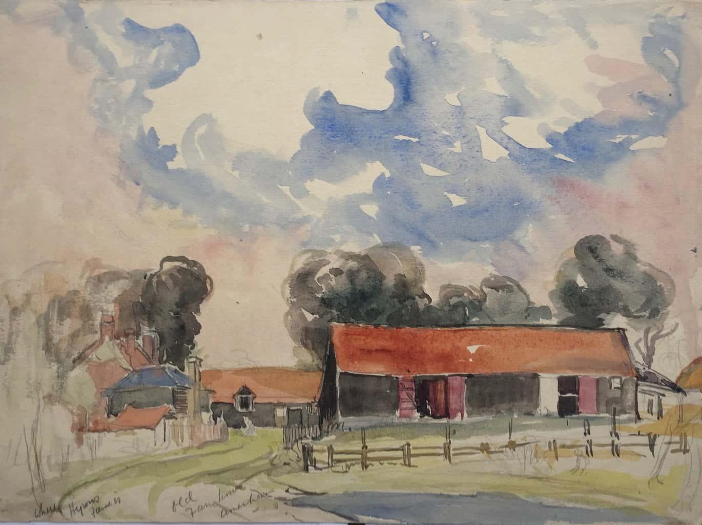Painting of Old Farm House, Hyrons Farm