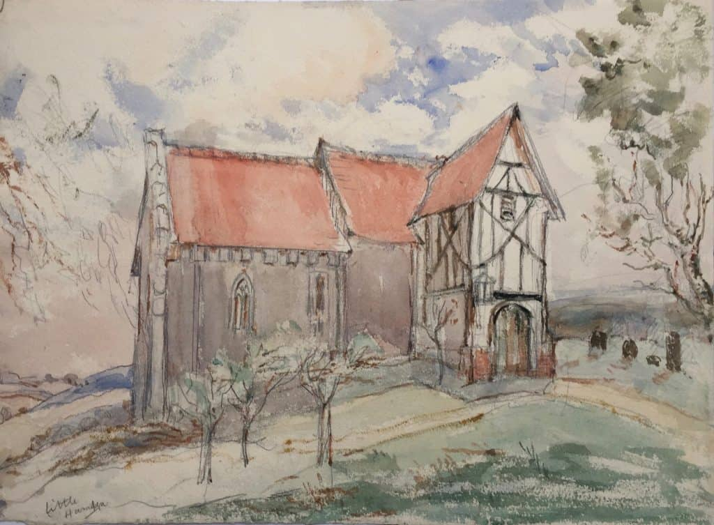 Painting of Little Hampden Church