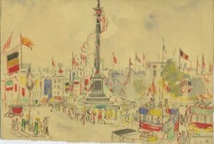 Painting of Nelson's Column 1