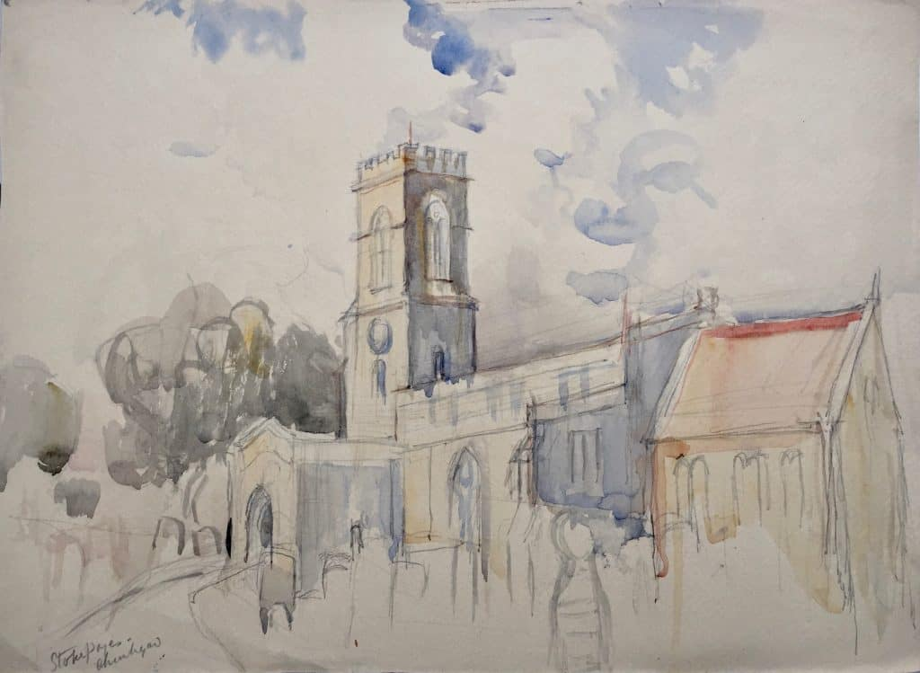 Painting of Stoke Poges Church