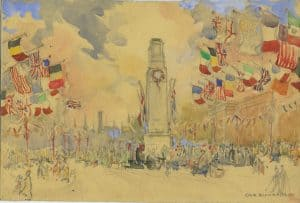 Painting of The Cenotaph 2