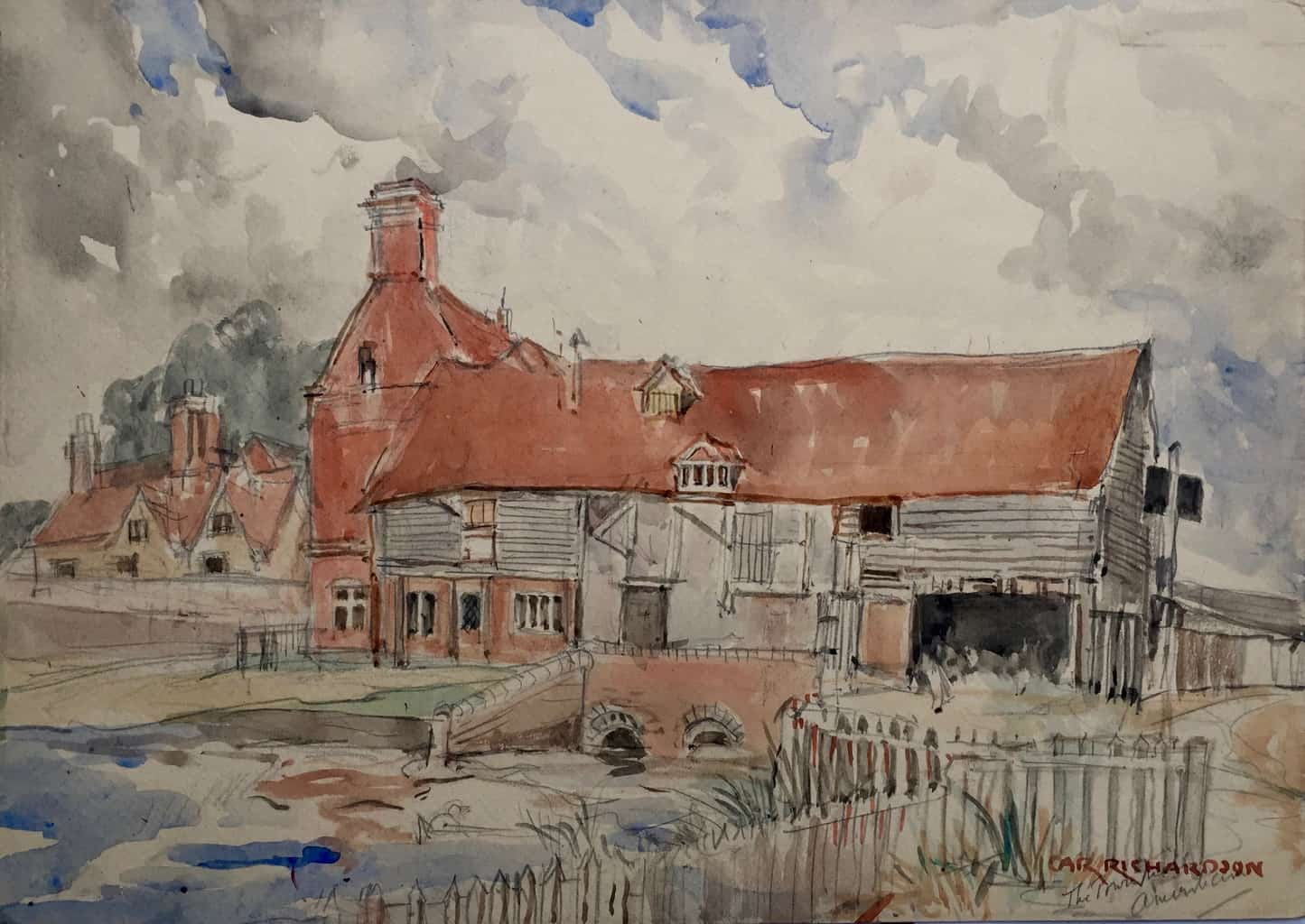 Painting of Town Mill, Amersham