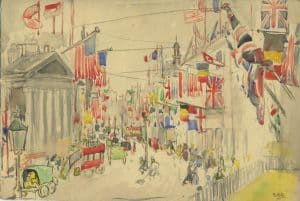 Painting of London armistice