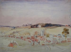 Painting of Amersham Church and Rectory Hill