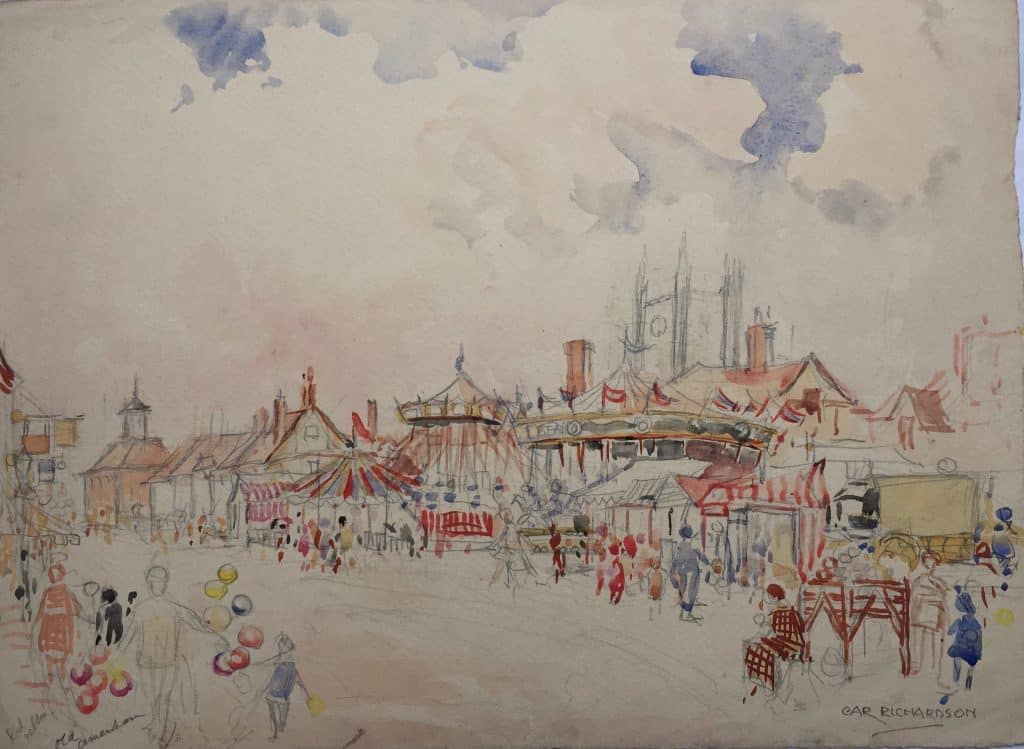 Painting of Amersham town 1