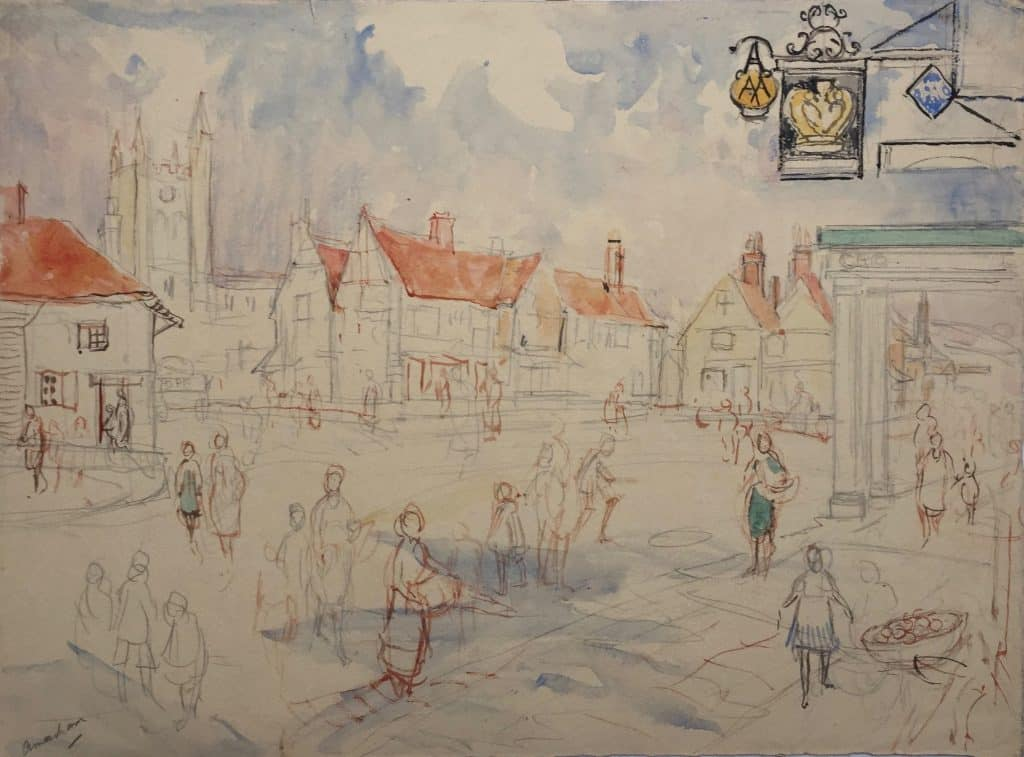 Painting of Amersham town 2
