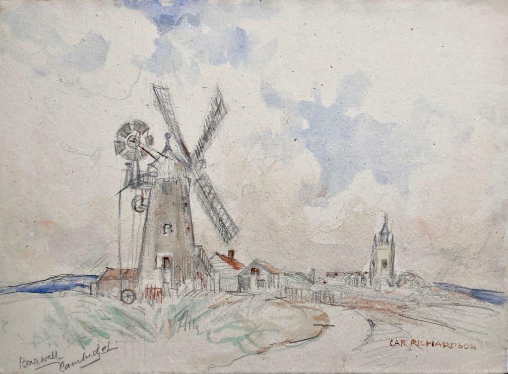 Painting of Barwell Windmill