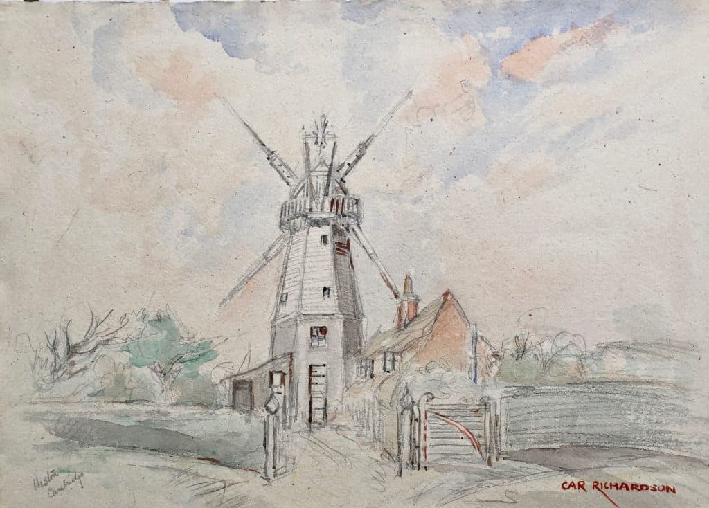 Painting of Cambridge, Impington Mill, Histon