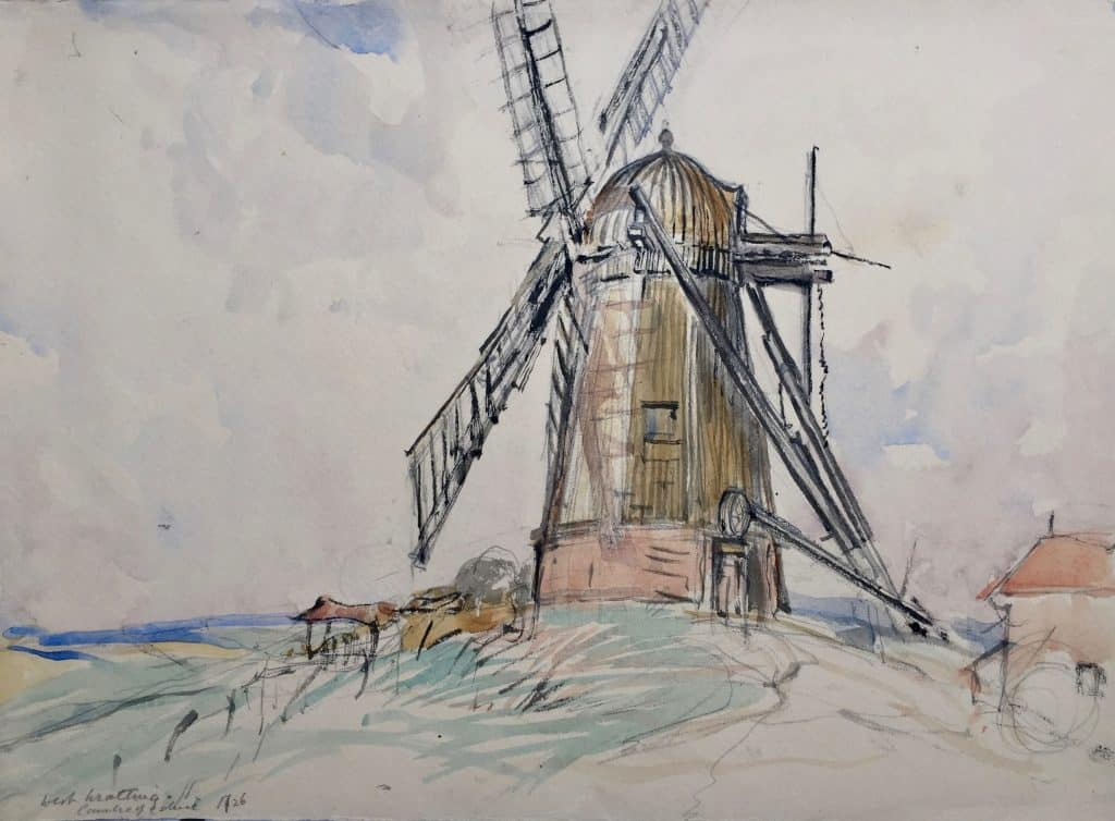 Painting of West Wratting windmill