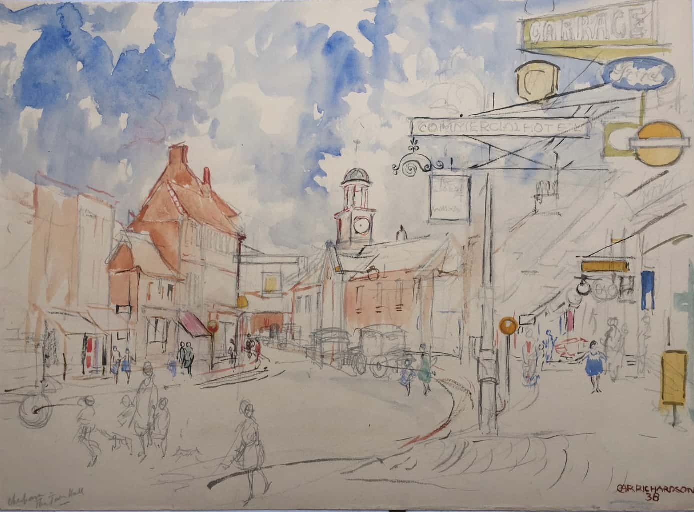 Painting of Chesham Town Hall 1