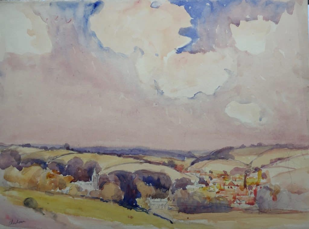 Painting of Chesham view 1