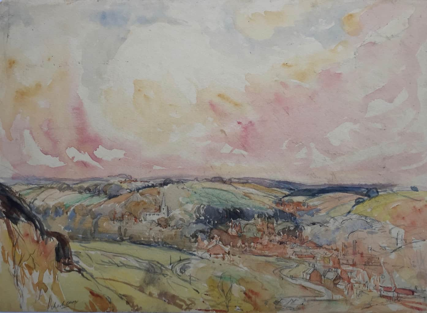 Painting of Chesham view 4