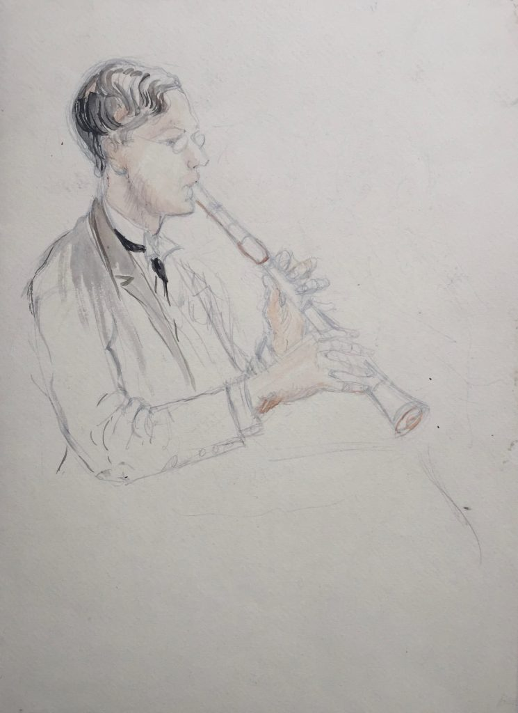 Portrait of clarinetist