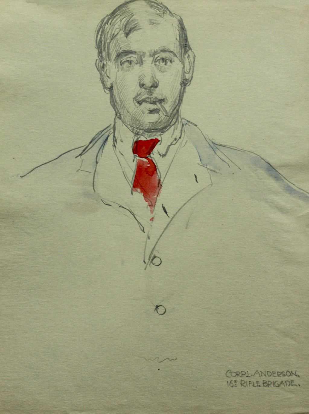 Sketch of Corporal Anderson 16th Rifle Brigade