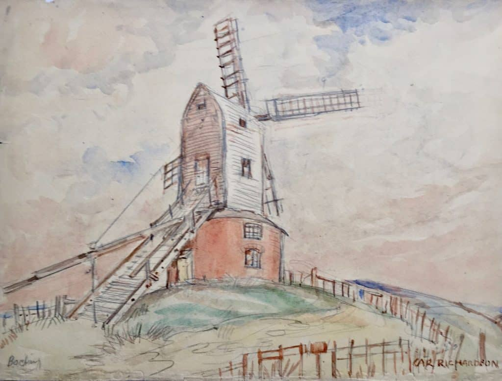 Painting of Bocking Church Street Mill