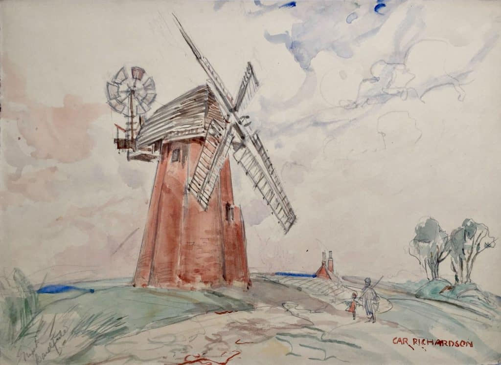 Painting of Great Bardfield Windmill
