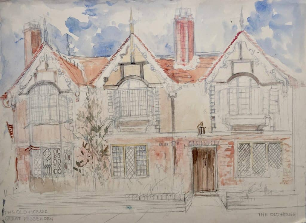 Painting of The Old House, Great Missenden