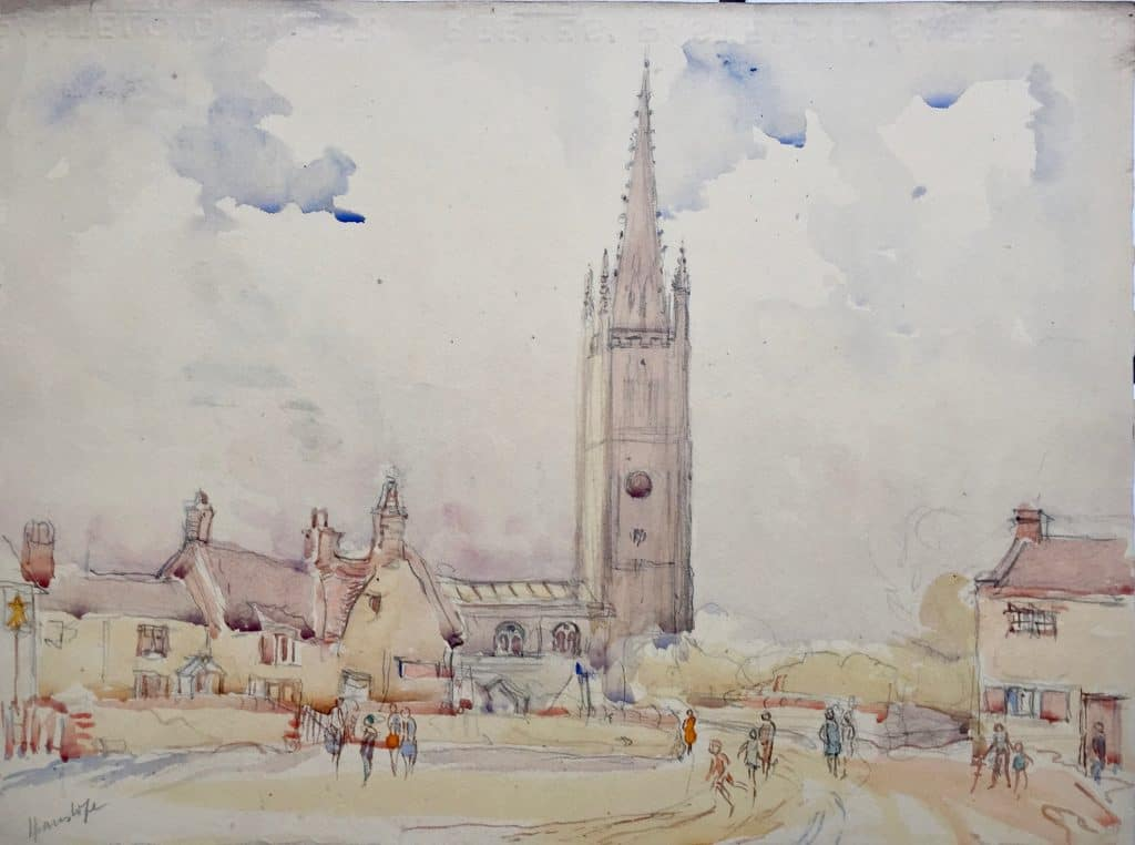 Painting of Hanslope Church
