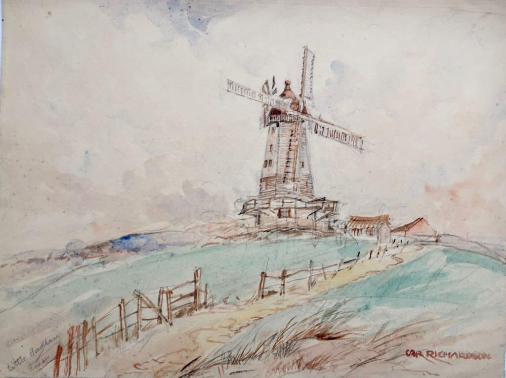 Painting of Little Hadham mill