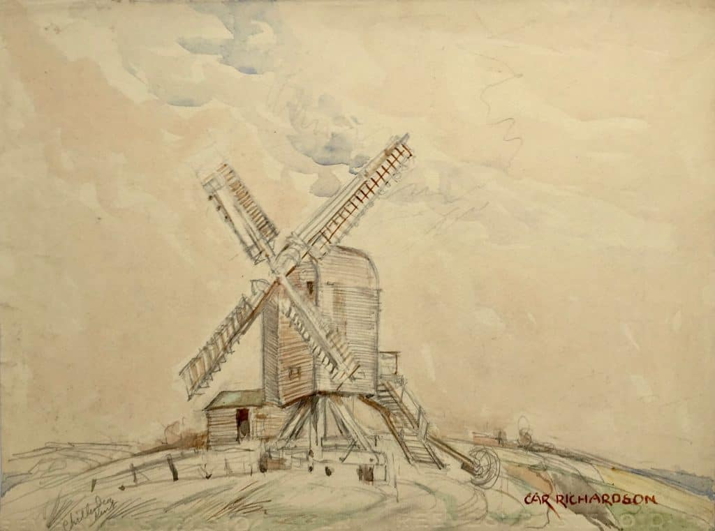 Painting of Chillenden mill