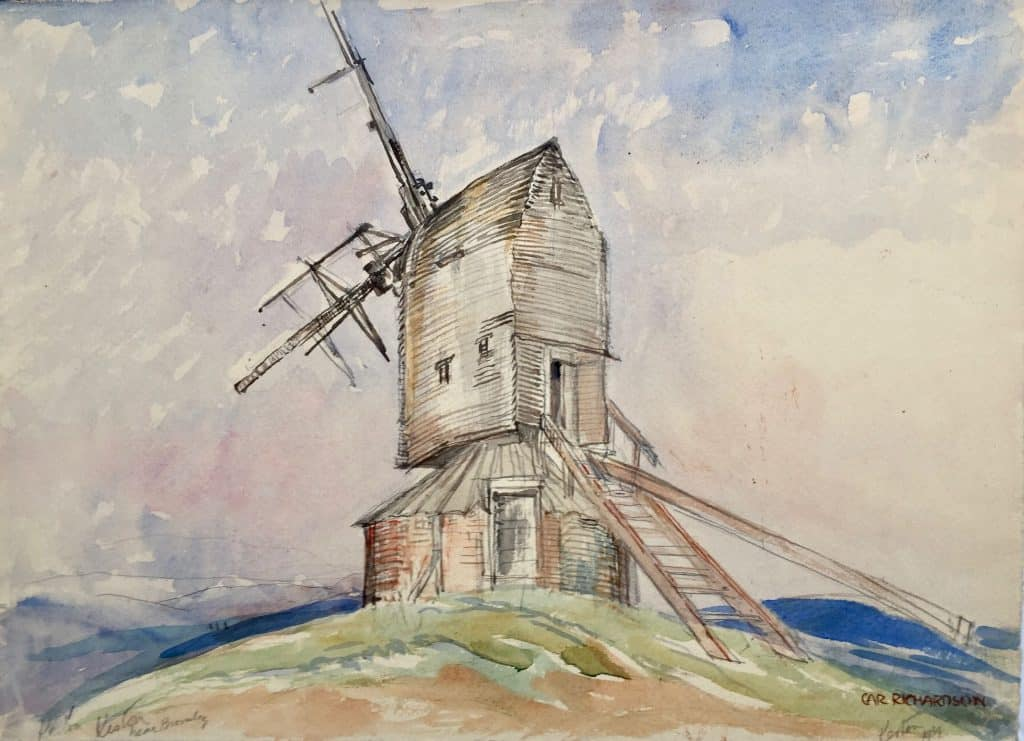 Painting of Keston Windmill