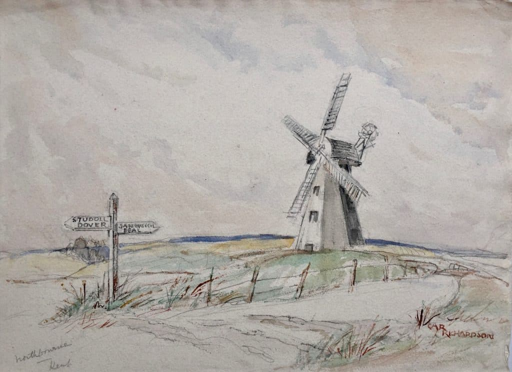 Painting of Northborough mill