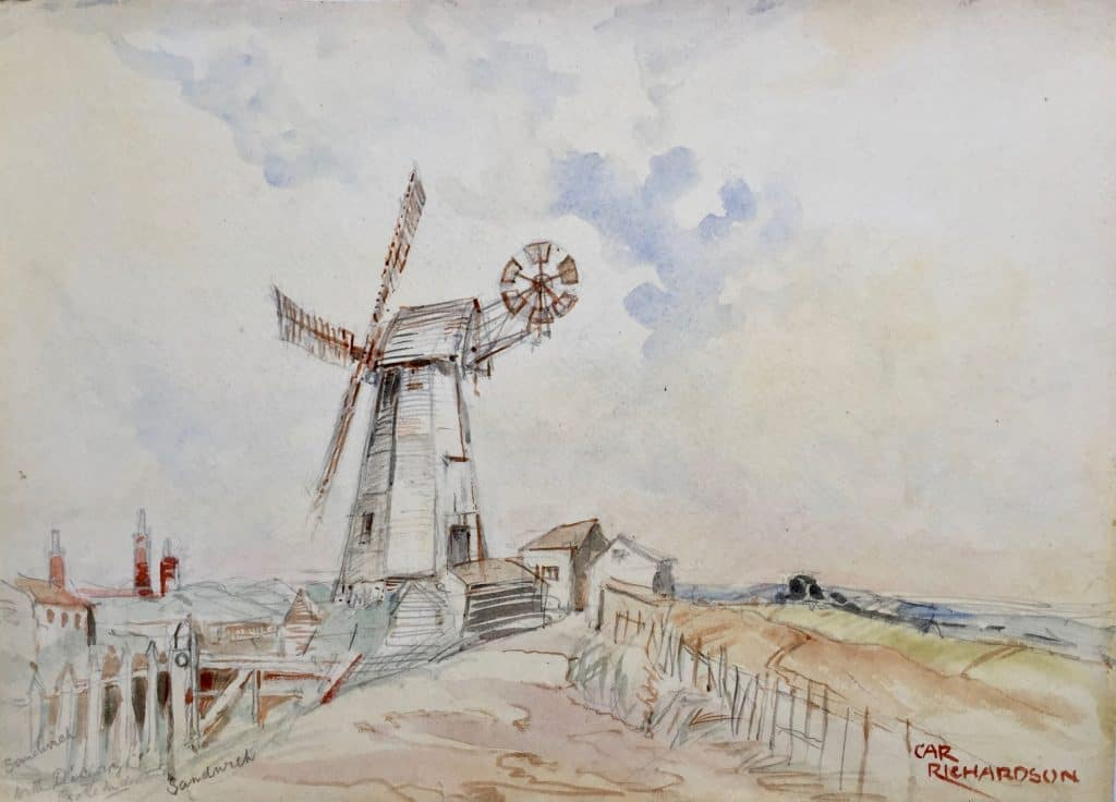 Painting of Sandwich mill