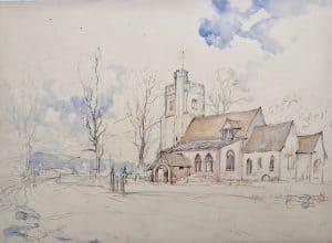 Painting of Little Missenden Church