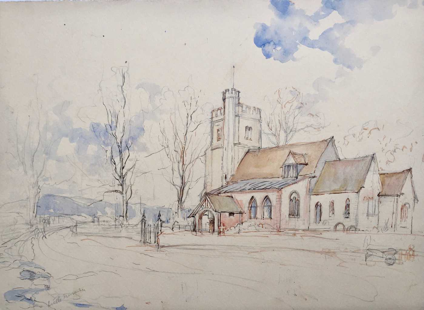 Painting of Little Missenden Church