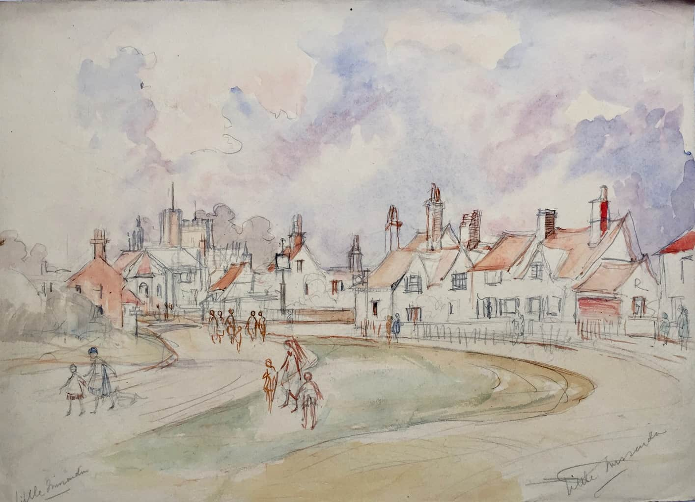 Painting of Little Missenden village