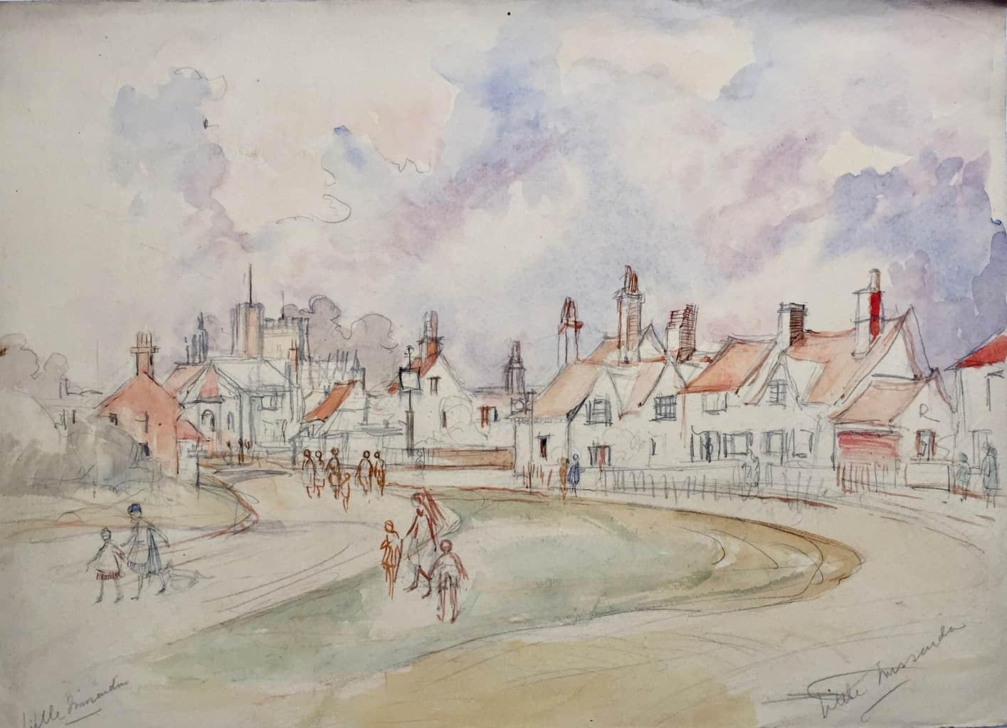 Painting of Little Missenden village
