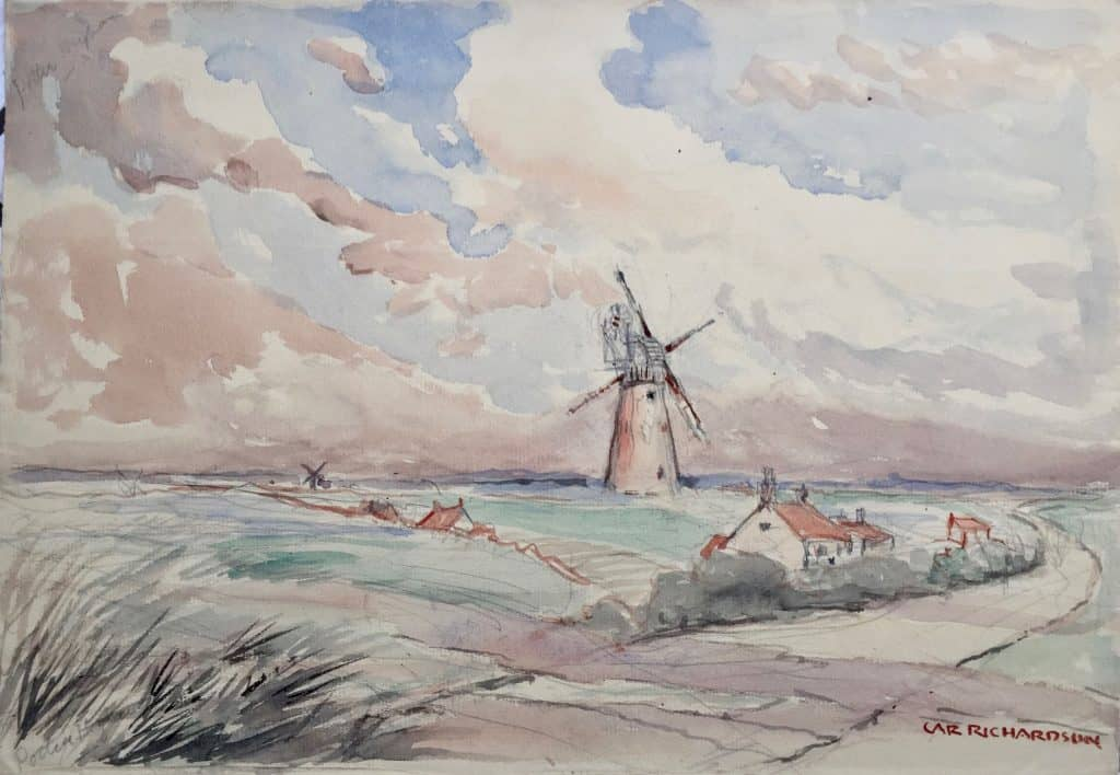 Painting of Potter Heigham windmill