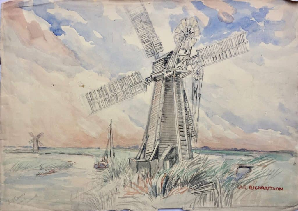 Painting of St Olaves windmill