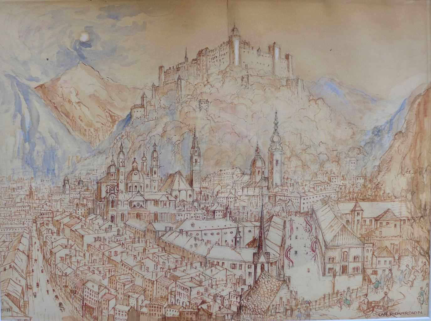 Painting by Caroline Richardson of Salzburg