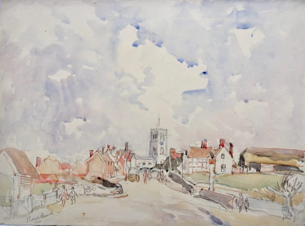 Painting of Thame Church