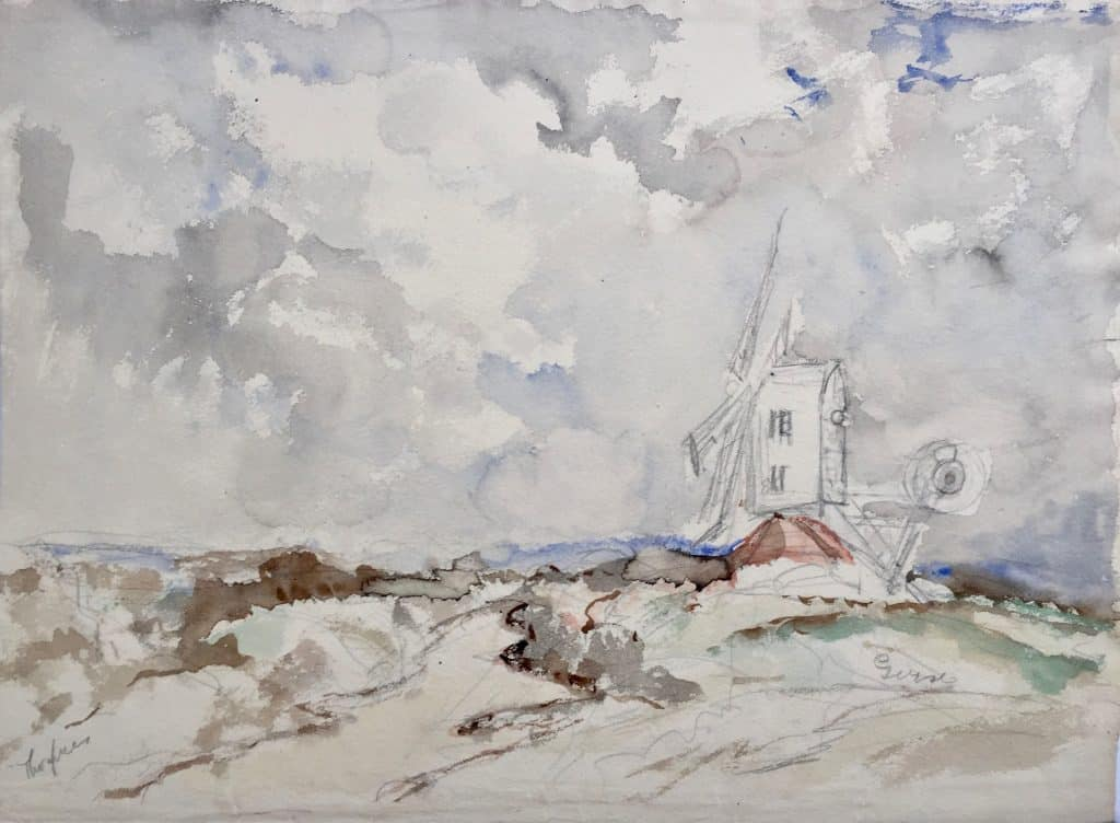 Painting of Thorpness Mill