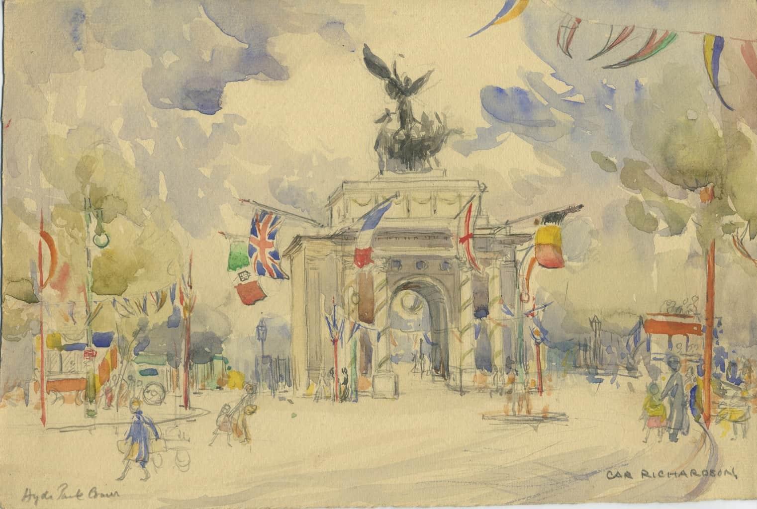 Painting of Hyde Park Corner