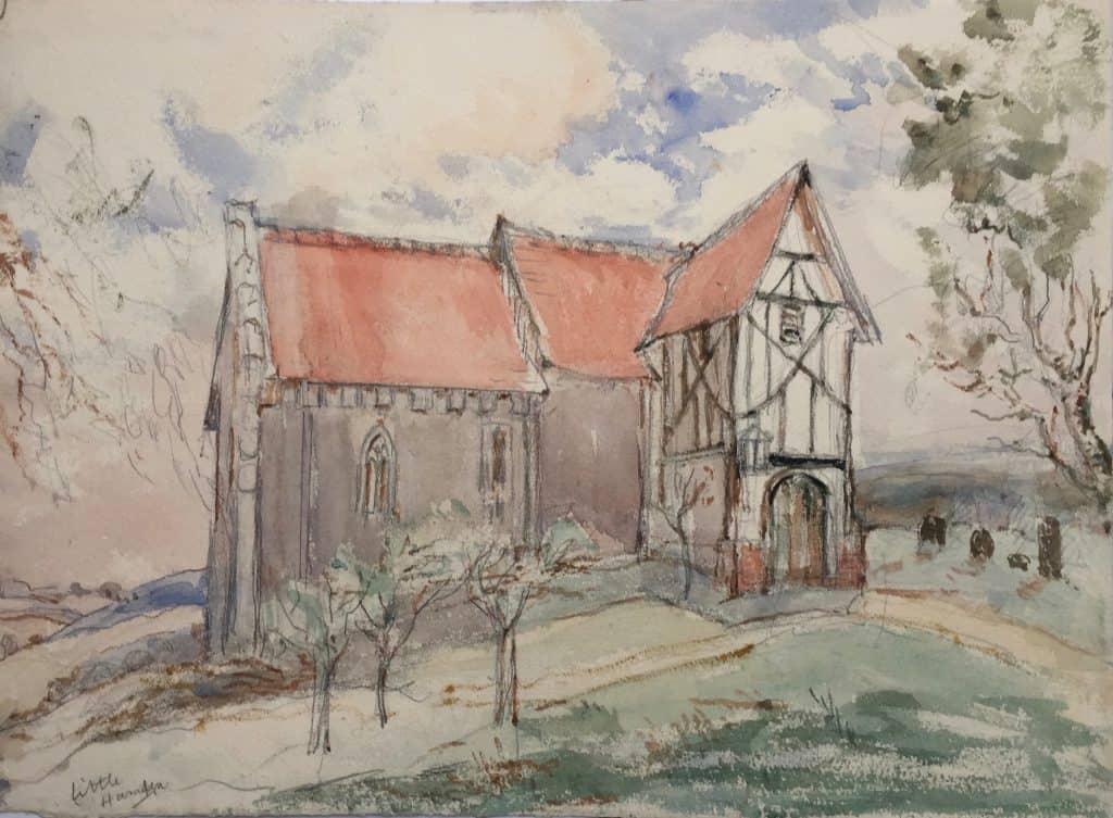 Painting of Little Hampden Church