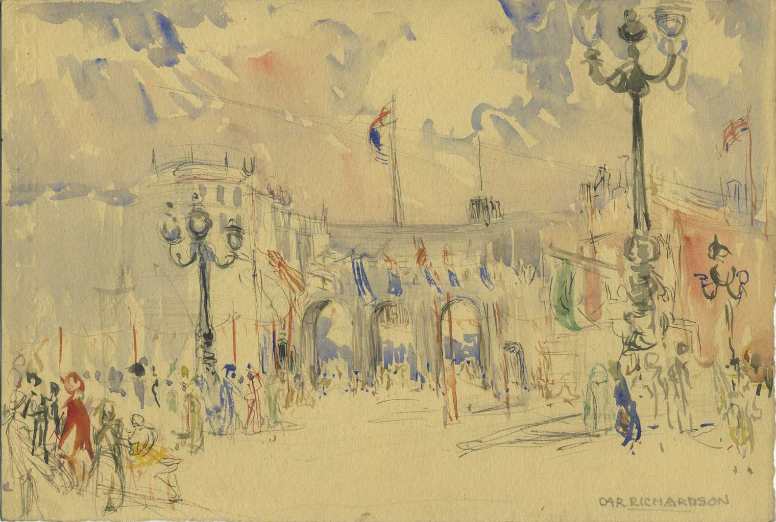 Painting of Marble Arch from The Mall