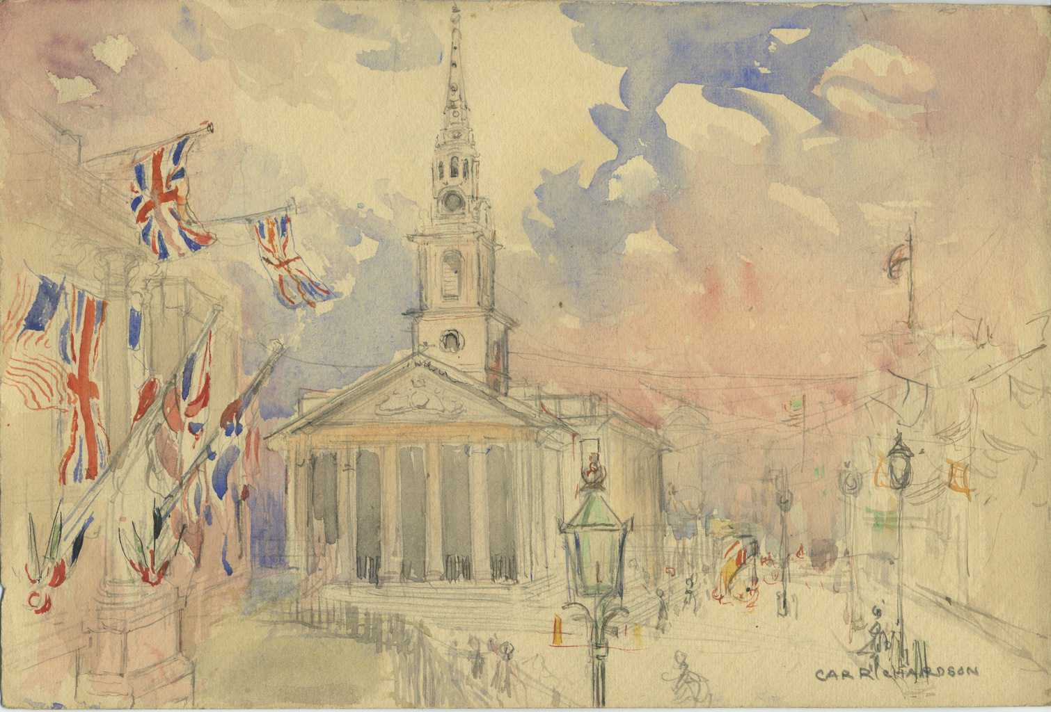 Painting of St Marin-in-the-Fields