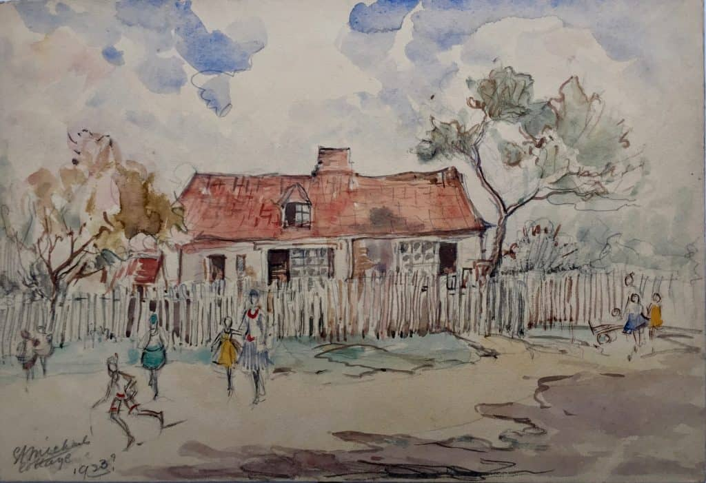 Painting of St Michael's Cottage
