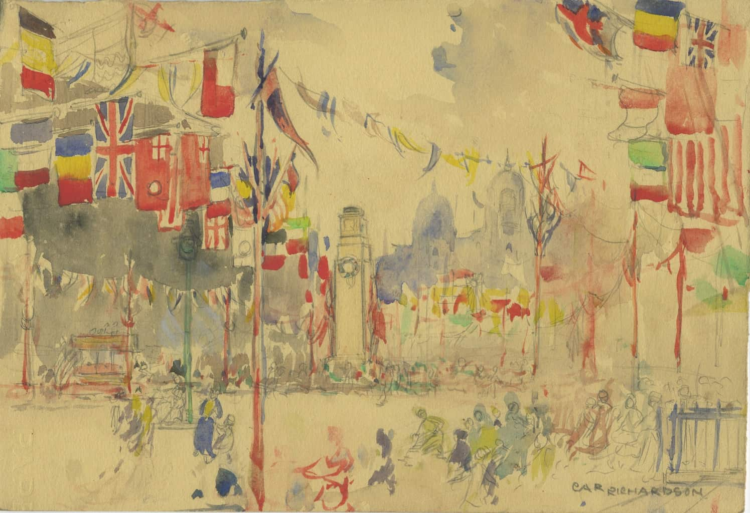 Painting of The Cenotaph 1