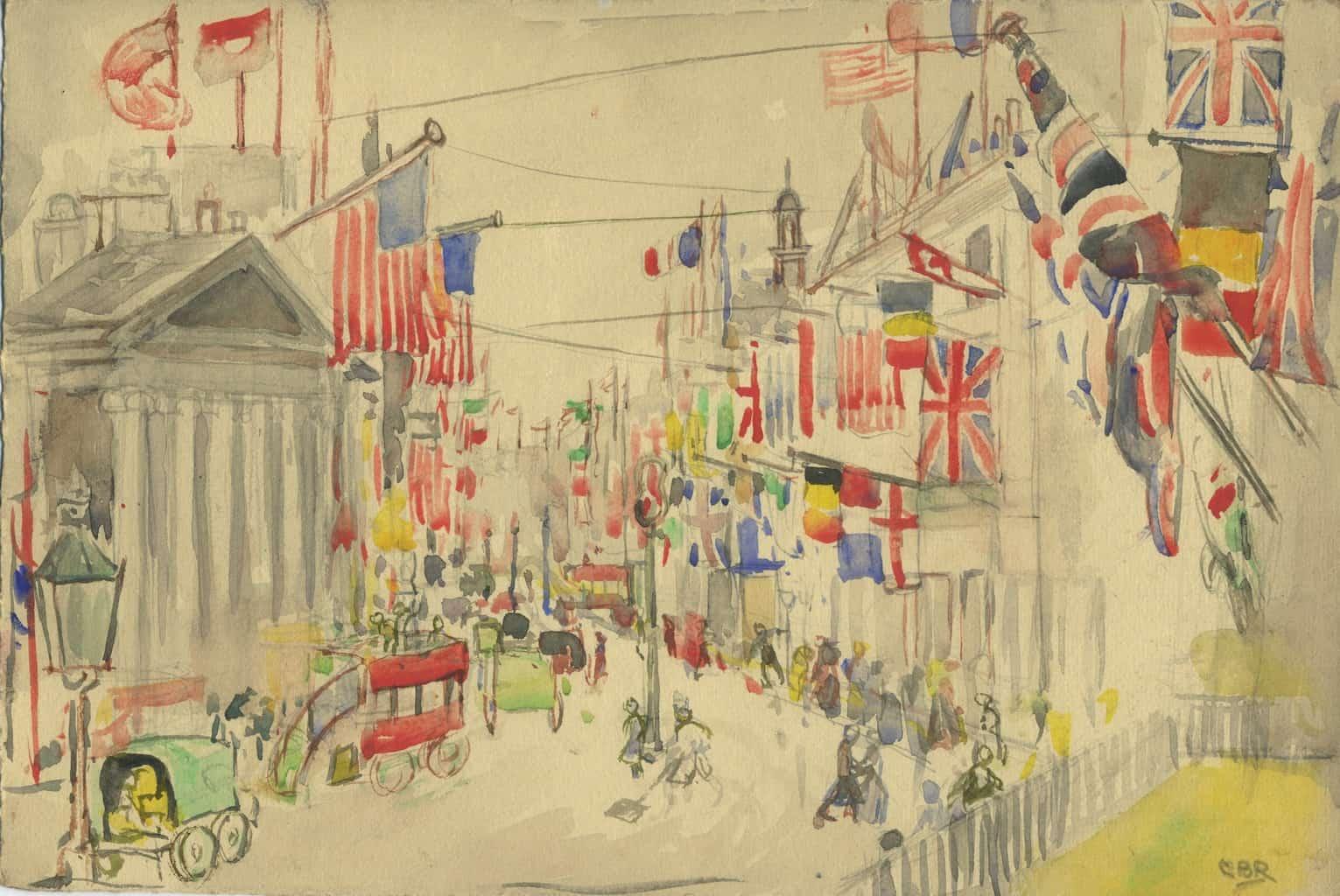 Painting of London armistice