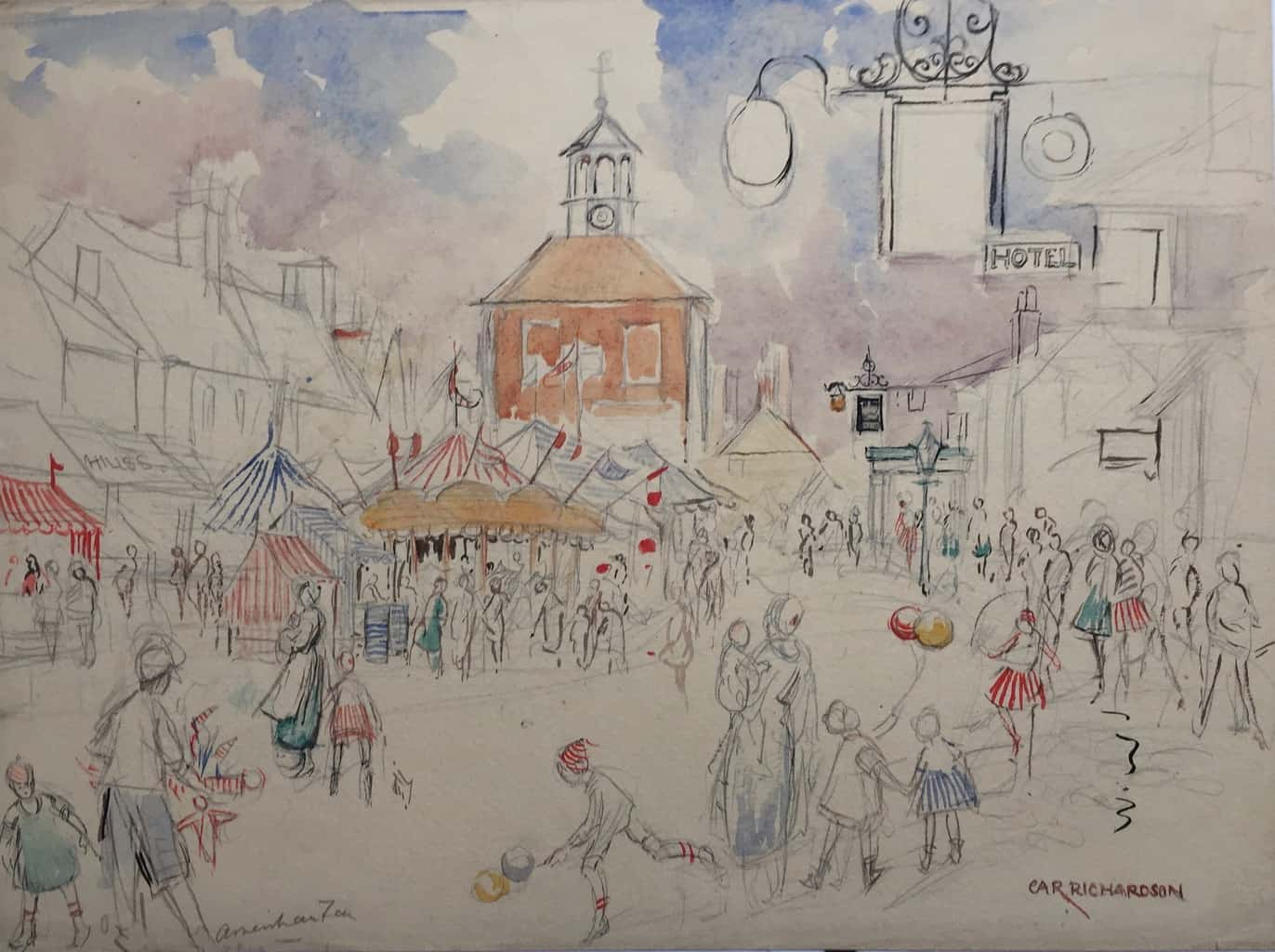 Painting of Amersham town 3