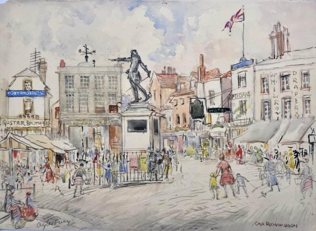 Painting of Aylesbury town