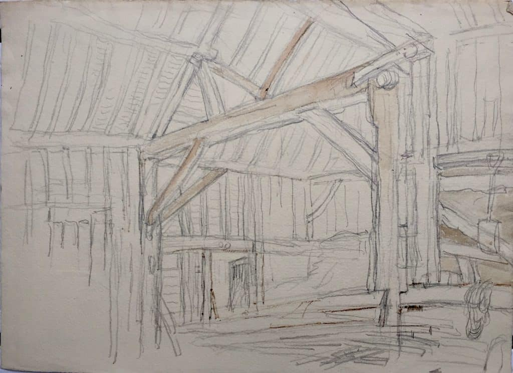 Painting of Barn structure 1