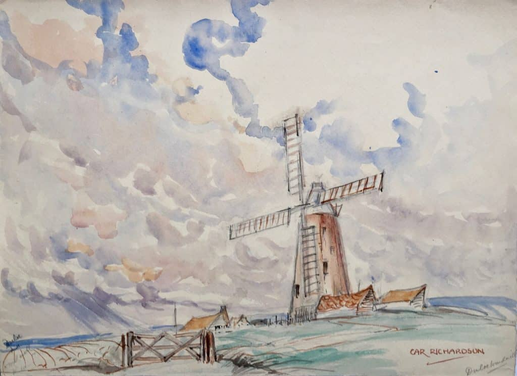Painting of Duloe Mill