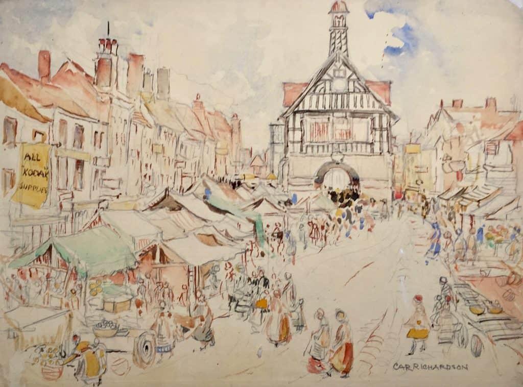 Painting of Bridgenorth